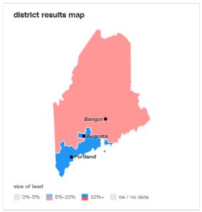 This is the way Maine's congressional lines split.